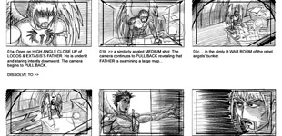 Paradise Lost: Shadows & Wings Storyboards